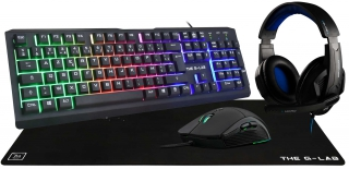 Ens clavier + souris the g-lab - COMBO-CHROMIUM/FR