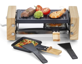Raclette / fondue / pierrade kitchen chef - WOOD.DUO