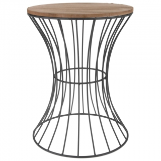 Home&Styling Table d'appoint Métal Beige