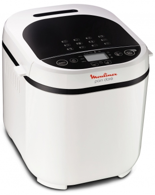MOULINEX OW210130 PAIN DORE 1KG-MACHINE A PAIN 1 2 PROGRAMMES, COLORIS BLANC