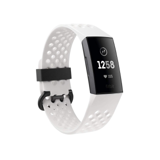 FITBIT - Bracelet connecté Charge 3 NFC SE (Graphite/White Silicone)