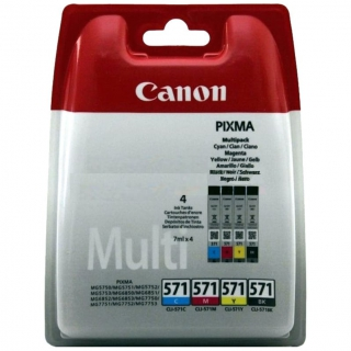 CANON - Pack cartouches d'encre CLI-571 Pack 4 cartouches