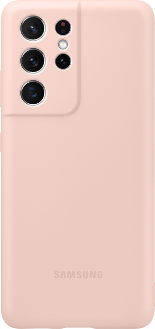 SAMSUNG - Coque smartphone EF-PG998TP Silicone Cover S21 Ultra Rose