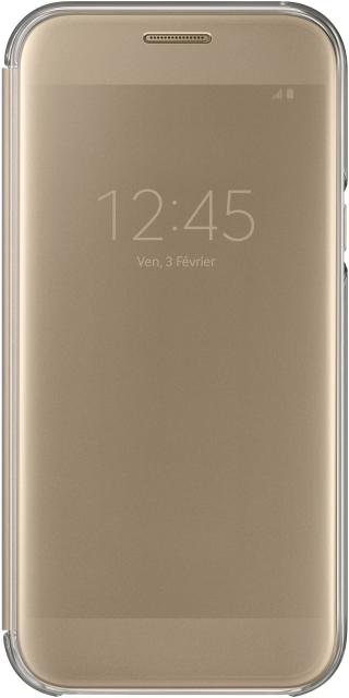 SAMSUNG - Etui Clear view cover or pour Galaxy A5 2017