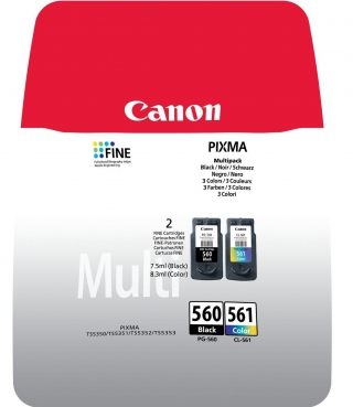 CANON - Pack cartouches d'encre PG-560 / CL-561 Multi Pack