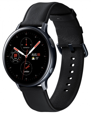 SAMSUNG - Montre connectée Galaxy Watch Active 2 - Bluetooth, Acier, Noir