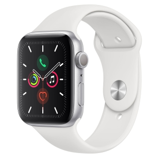 APPLE - Montre connectée Watch Series 5 GPS 44mm Aluminium Argent Sport