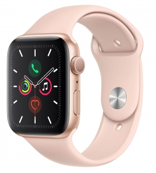 APPLE - Montre connectée Watch Series 5 GPS 44mm Aluminium Or Sport