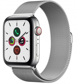 APPLE - Montre connectée Watch Series 5 GPS + 4G 44mm Acier Milanaise