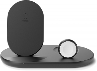 BELKIN - Chargeur induction WIZ001vfBK Double pad indcution avec stand