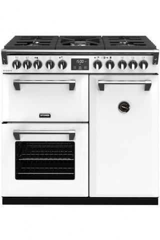 STOVES PRICHDX90DFICY PIANO CUISSON RICHMOND DELUXE 90 DFT BLANC