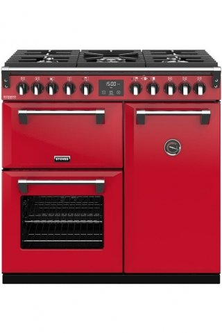 STOVES PRICHDX90DFJAL PIANO CUISSON RICHMOND DELUXE 90 DFT ROUGE JALAPENO